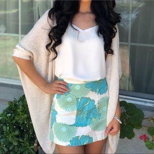 NWT TopShop Floral Mini Skirt A72
